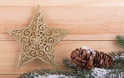 Gold Holiday Star Stock Photography