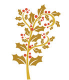 Gold holly berry Royalty Free Stock Image