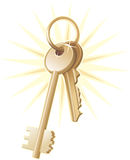 Gold home keys, realty, vector Royalty Free Stock Image