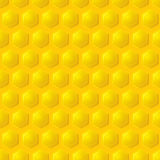 Gold honeycomb background Royalty Free Stock Images