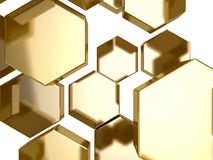 Gold honeycomb pattern background Royalty Free Stock Photography