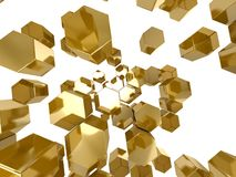 Gold honeycomb pattern background Royalty Free Stock Photo