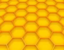 Gold honeycombs. 3d gold honeycombs . Computer generated image Royalty Free Stock Image