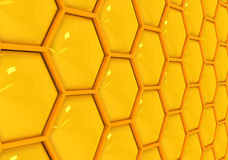 Gold honeycombs Stock Photo