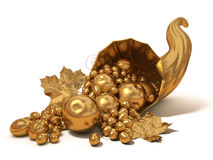 Gold horn of plenty Stock Photo