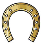 Gold horseshoe Stock Photos