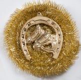 Gold horseshoe Stock Photo