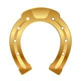 Gold horseshoe (good luck talisman) Royalty Free Stock Photos