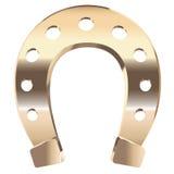 Gold horseshoe Royalty Free Stock Photos