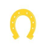 Gold horseshoe. Stock Photos