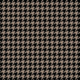 Gold houndstooth pattern vector. Classical checkered textile design. Stock Photo