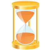 Gold hourglass Stock Images