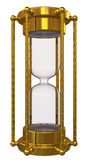 Gold hourglass with no sand Stock Images
