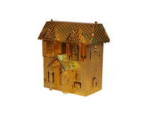 Gold House. This is the cropped image of gold house Christmas decoration Royalty Free Stock Photography