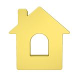 Gold house icon Royalty Free Stock Photo
