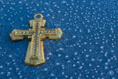 Gold Ice Cross Royalty Free Stock Photo