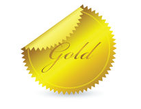 Gold icon Stock Photo