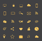 Gold icon set Royalty Free Stock Photo