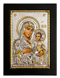 Gold icon of Virgin Mary Stock Photo