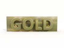 Gold icon Stock Photography