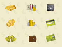 Gold icons Royalty Free Stock Photos