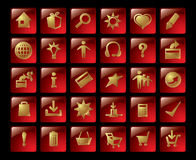 Gold icons. Royalty Free Stock Image