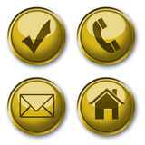 Gold icons collection Stock Images