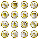Gold icons set Stock Photography