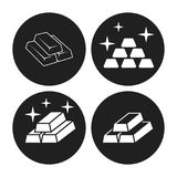 Gold icons Royalty Free Stock Images