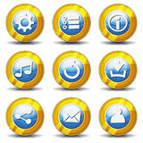 Gold Icons For Ui Game Stock Images