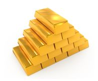 Gold ignot pyramid Royalty Free Stock Photography