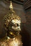 Gold image of buddha. In ayudhaya, ayutthaya, thailand Stock Photos