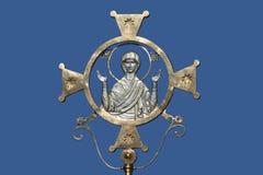 Gold image of Saint Mary Stock Image