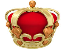 Gold imperial crown Stock Images