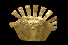 Gold Inca Mask Stock Photo