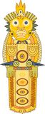 Gold Indian totem Royalty Free Stock Image