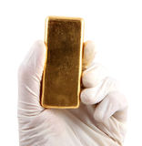 Gold ingot Stock Photography