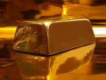 Gold ingot Stock Photos