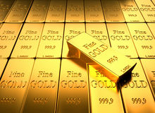Gold Ingot Stock Images