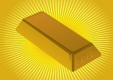 Gold ingot Royalty Free Stock Images