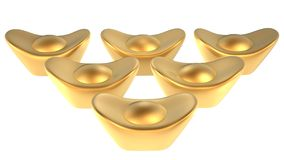 Gold ingot Royalty Free Stock Photos