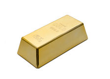 Gold ingot, bullion or bar Stock Photos