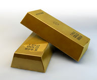 Gold ingot Royalty Free Stock Photo