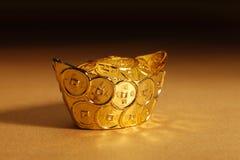 Gold ingot Royalty Free Stock Photos