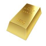 Gold ingot. Isolated on white background 3D illustration Stock Photos