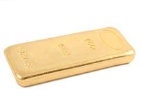 Gold ingot. Real photo Royalty Free Stock Photography