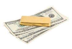 Gold ingot. Real photo Stock Photography