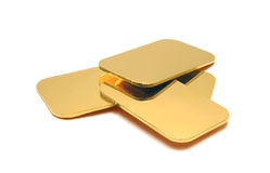 GOLD INGOTS Stock Image