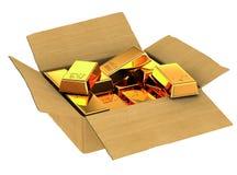 Gold ingots Stock Images