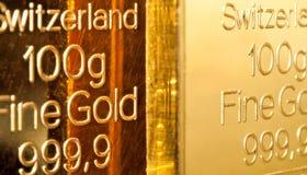 Gold Ingots Stock Photography